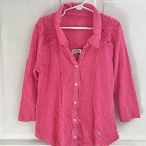 GIRLS Abercrombie Pink Button-down Shirt SIZE 8